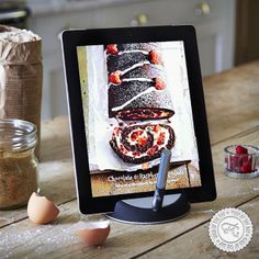 Still to finish your Christmas cookie baking? This Tablet Stand with Touch Pen may help to keep your tablet flour free. #wishoftheday #fancygiving #inspiration #kitchen #gadget