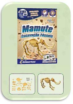 Com Escavação Fósseis Mamute descobre: O que são fósseis - Qual a causa de extinção dos dinossauros - Quais as melhores técnicas de escavação - O que é a Paleontologia - Características e curiosidades sobre o Mamute.