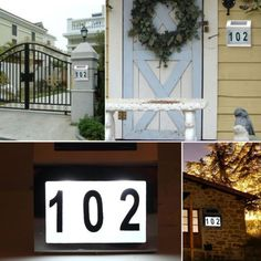 Solar Powered 3 LED Illuminated House Door Number Light Wall Plaque  Stainless Lamp | LED Lights | Pinterest | Door Numbers, Light Walls And  Solar