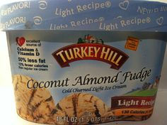 Crazy Food Dude Review: Turkey Hill Coconut Almond Fudge Light Ice Cream