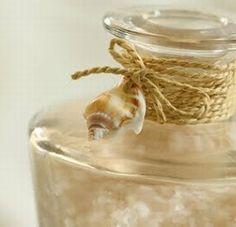 Ways to Decorate Jars & Bottles Beach Style - Several ways to beach-up bottles & jars.