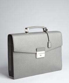 Pradamercury saffiano calfskin leather 'Cartella' briefcase | BLUEFLY up to 70% off designer brands