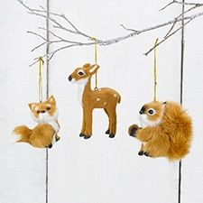 Woodland Mini-Plush Ornament Set