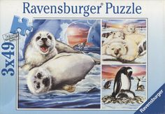Ravensburger's Polar Animals jigsaw puzzle is recommended for children age 5 and up and is part of a set of puzzles in my eBay store. #jigsawpuzzles #ravensburger #polaranimals