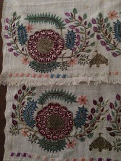 19th C LARGE ANTIQUE OTTOMAN-TURKISH  GOLD METALLIC HAND EMBROIDERY ON LINEN