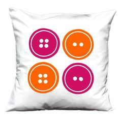 Buttons handmade cushion cover