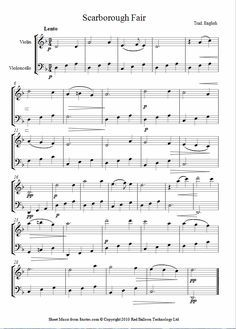 Scarborough Fair sheet music for Violin-Cello Duet