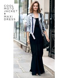 Cool Moto Jacket + Maxi Dress