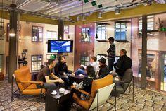 Google Office Stockholm | Micro Kitchen & Games Room #GoogleStockholm, #Office, #Facade, #WallGraphics