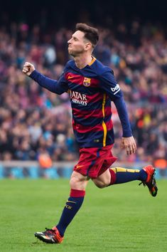 Lionel Messi (Scores the opening goal for FC Barcelona during the La Liga match against RC Deportivo La Coruna at Camp Nou on December 2015 in Barcelona, Catalonia) Fc Barcelona Players, Lionel Messi Barcelona, Barcelona Football, Messi Vs Ronaldo, Messi 10, Barcelona Champions League, Fc Barcelona Wallpapers, Messi Photos, Leonel Messi