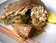 Baked Whole Trout with Onions in Foil recipe