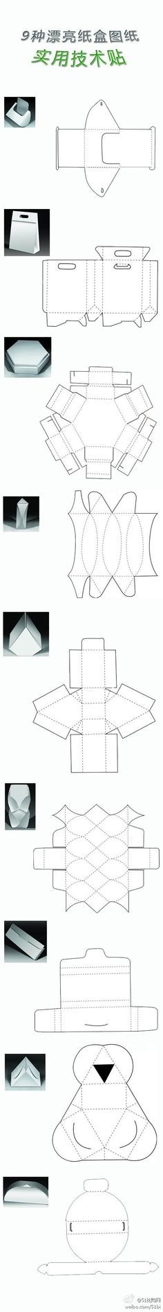 Dielines for packaging structures