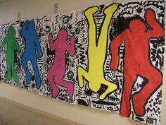 Artolazzi: First day of art! 2015-16 school year. Keith Haring Collaborative Mural!