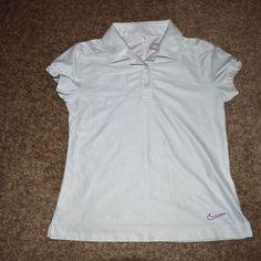 Nike Golf Girls Novelty Polo 518155 Dri Fit Polka Dot Fashion Pocket Size Small  #Nike #Everyday