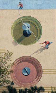 Los fantásticos murales de Mehdi Ghadyanloo 27