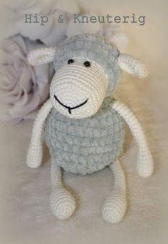 Trendy Crochet Projects For Kids Haken Crochet Sheep, Crochet Animal Amigurumi, Crochet Animals, Amigurumi Patterns, Crochet Dolls, Crochet Stitches, Knit Crochet, Crochet Patterns, Crochet For Kids