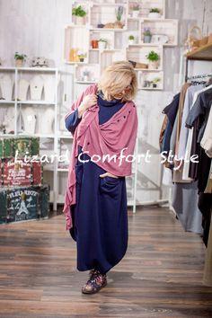 ЯВ0872:Платье из вискозы, размер 50/52, Кабушева. Шаль из хлопка, GalaGolansky