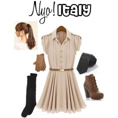 """Nyo!Italy cosplay (Hetalia)"" by isabel-kitty-marie on Polyvore"
