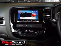 Mitsubishi Outlander with Android Auto installed by DriveSound. Mitsubishi Outlander, Android Auto, Gps Navigation, Car Audio, User Interface, Brisbane
