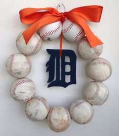 Detroit Tigers Baseball Wreath