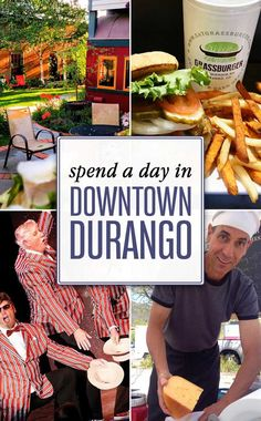 Top things to do in historic downtown Durango, Colorado: Durango Train, Henry Strater Theater, Farmer's Market and more! Pagosa Springs Colorado, Silverton Colorado, Durango Colorado, Road Trip To Colorado, Visit Colorado, Colorado Hiking, Resorts, Durango Train, Denver