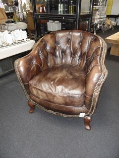Cigar lounge sofa seat - I would love to smoke a cigar in that chair.    Dlux Interiors