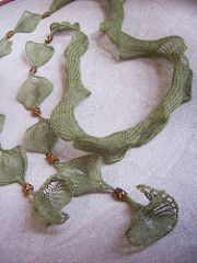 Falling Leaves Scarf Necklace pattern by Rosemary (Romi) Hill