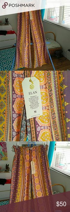 Elan silky hippie  boho pants nwt Beautiful mid rise elan Pants Boot Cut & Flare
