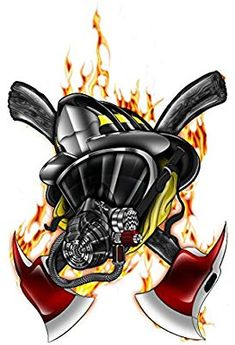 Fireman Firefighter Hero AXE logo Wall Graphics decals Home Game Kids Boys Room decor stickers NEW ! *** Be sure to check out this awesome product-affiliate link. Firefighter Drawing, Firefighter Paramedic, Volunteer Firefighter, Firefighters, Fireman Tattoo, Firefighter Tattoos, Axe Logo, Los Muertos Tattoo, Fire Art