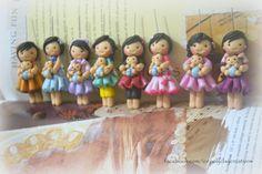 polymer clay chibi dolls