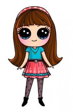 "Image search result for ""easy kawaii character drawing"" - Art Drawings Cute Drawings Tumblr, Cute Drawings Of People, Kawaii Girl Drawings, Cute Easy Drawings, Cute Girl Drawing, Disney Drawings, Drawing People, Cartoon Drawings, Drawing Drawing"