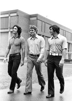 Coach Saban with teammates cruising campus @ Kent State. He had swag even then!