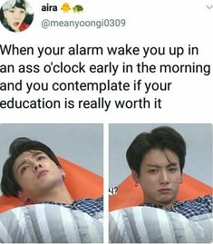 My brain: jin managed to take online classes and graduate but jungkook said o can do what i want so i might as well- BUT namjoon wants me to have a good education....