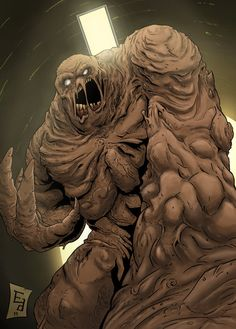 Clayface is a legacy name used by several super-villains who fight Batman, each of them with powers that involve a malleable clay-like body structure. They primarily use shape-shifting to commit crimes and terrorize Gotham City. Batgirl, Catwoman, Harley Quinn, Joker And Harley, Batman Universe, Comics Universe, Dc Comics Art, Marvel Dc Comics, Marvel Vs