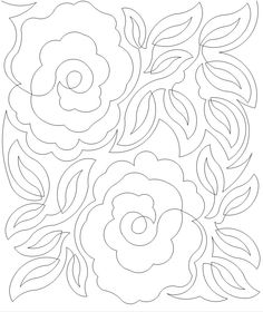 Floral quilting pattern