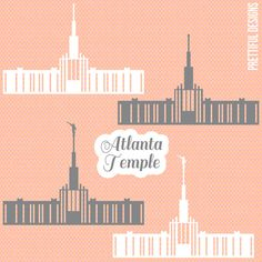 Atlanta Georgia Temple LDS Mormon Clip Art by ILoveToSeeTheTemple