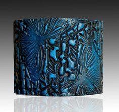 Blue enamel cuff