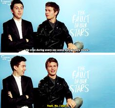 Ansel Elgort and Nat Wolff