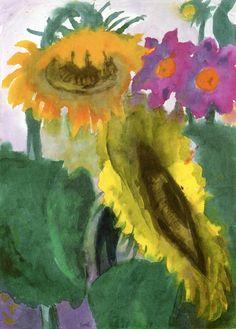 Ripe Sunflowers ~ Emil Nolde