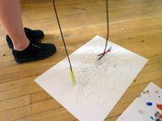 long distance mark making Drawing For Kids, Art For Kids, Disability Art, Sensory Art, Drawing Machine, Kinetic Art, My Themes, Mark Making, Art Club