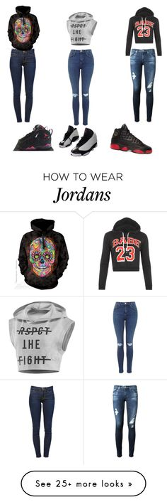 """Untitled #183"" by rebecca01f on Polyvore featuring Frame Denim, AG Adriano Goldschmied, Reebok, WearAll and NIKE"