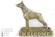 Doberman dog welcome hanging decoration by ArtDogshopcenter