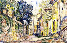 The Athenaeum - Bourg-Saint-Andeol (Paul Signac - )