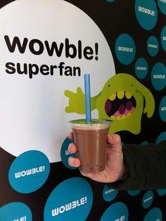 Día 47: Chocolate Milk Bubble Tea con bobas de fresa de Wowble