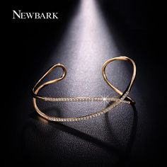 Find More Bangles Information about NEWBARK Glistening X Cross CZ Diamond Paved…