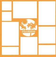 Florida Palm Tree 12 x 12 Overlay Laser Die Cut