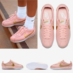 7d5c27e7cc3da4 Pink  Gold Cortez Nike New with box. Pink with gold Nike Logo. Tried on at  the Nike store.
