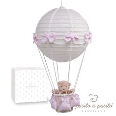 Blue Almonds | Pink Hot-air balloon ceiling lamp 100£