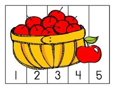 Here's a set of apple themed number order puzzles. Includes puzzles for counting 1-5, counting 1-10, skip counting by 5, and skip counting by 10.