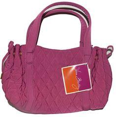 Retired Vera Bradley Magenta Microfiber Purse Handbag NWT  | eBay